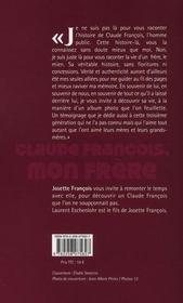 Claude François, mon frère - 4ème de couverture - Format classique
