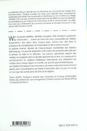 Les Medias Dans Le Monde Enjeux Internationaux Et Diversites Nationales - 4ème de couverture - Format classique