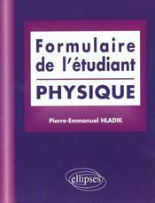 Formulaire De L'Etudiant Physique - Intérieur - Format classique