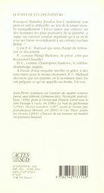 Le Grand Faiseur - 4ème de couverture - Format classique