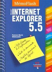 Internet Explorer 5.5. Microsoft - Intérieur - Format classique