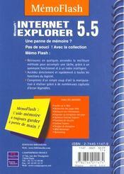 Internet Explorer 5.5. Microsoft - 4ème de couverture - Format classique