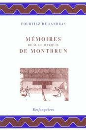 Memoires De Monsieur Le Marquis De Montbrun - Intérieur - Format classique