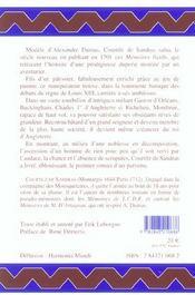 Memoires De Monsieur Le Marquis De Montbrun - 4ème de couverture - Format classique