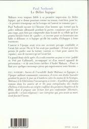 Le Delire Logique ; Autobiographie D'Un Citoyen Du Temps - 4ème de couverture - Format classique