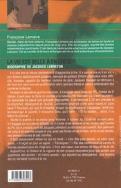 Jacques beauge dit lebreton ; la vie est belle a en crever - 4ème de couverture - Format classique