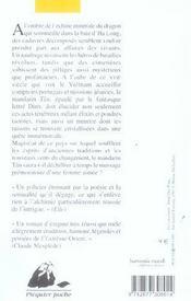 La poudre noire de maître Hou - 4ème de couverture - Format classique