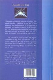 2007, le retour de la lumière ; l'année du discernement spirituel - 4ème de couverture - Format classique