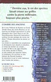 Secret De Ji 3 (Le) - Ombre Des Anciens (L') - 4ème de couverture - Format classique