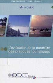 L'évaluation de la durabilité des pratiques touristiques (t.9) - Couverture - Format classique