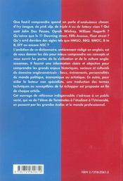 A To Z Dictionnaire Culturel Britannique Et Americain - 4ème de couverture - Format classique