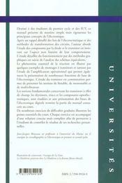 Introduction A L'Electronique Cours Et Exercices Corriges - 4ème de couverture - Format classique