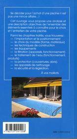 La piscine - 4ème de couverture - Format classique