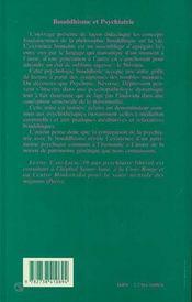 Bouddhisme et psychiatrie - 4ème de couverture - Format classique