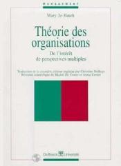 Theorie Des Organisations De L'Interet De Perspectives Multiples - Couverture - Format classique