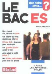 Le bac ES - Intérieur - Format classique