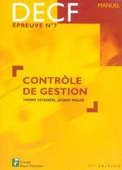 Controle De Gestion Decf Epreuve No7 Manuel - Intérieur - Format classique