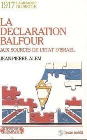 Declaration Balfour - Couverture - Format classique