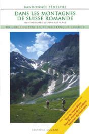 Randonnée pédestre dans les montagnes de suisse romande - Couverture - Format classique