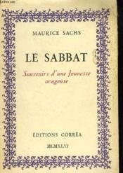 Le Sabbat. Souvenirs D'Une Jeunesse Orageuse - Couverture - Format classique
