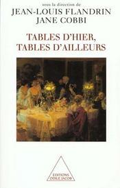 Tables D'Hier, Tables D'Ailleurs - Intérieur - Format classique