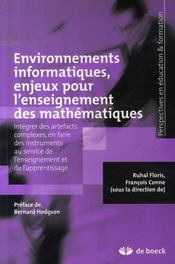 Environnements informatiques, enjeux pour l'enseignement des mathématiques - Intérieur - Format classique