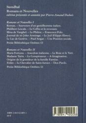 Mina de Vanghel ; romans et nouvelles t.1 - 4ème de couverture - Format classique