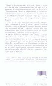 Du Genre Libertin Au Xviii E Siecle - 4ème de couverture - Format classique