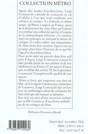 Enfance ; Vocation ; Experience D'Un Cineaste - 4ème de couverture - Format classique