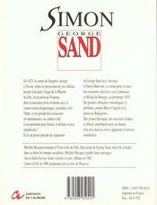 Simon - 4ème de couverture - Format classique