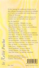 L'Art De Mediter Et D'Agir - 4ème de couverture - Format classique
