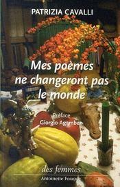 Mes poèmes ne changeront pas le monde - Intérieur - Format classique