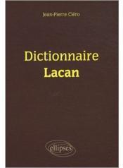 Dictionnaire Lacan - Couverture - Format classique
