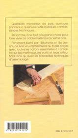 Connaitre et savoir travailler le bois - 4ème de couverture - Format classique