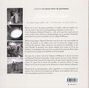Edmond Dauchot ; Le Photographe De L'Ardenne D'Autrefois - 4ème de couverture - Format classique