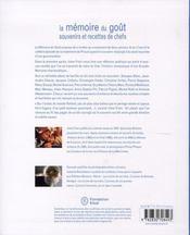 La mémoire du goût ; souvenirs et recettes de chefs - 4ème de couverture - Format classique