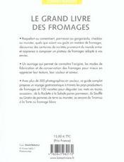 Grand livre des fromages (le) (petit format) - 4ème de couverture - Format classique