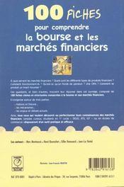 100 fiches pour comprendre la bourse et les marches financiers - 4ème de couverture - Format classique