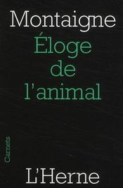 Eloge De L'Animal - Couverture - Format classique