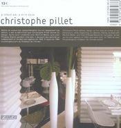 Christophe Pillet - 4ème de couverture - Format classique