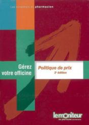 Politique de prix (3e édition) - Couverture - Format classique