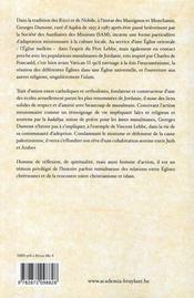 Un Chretien En Terre D'Islam Le Pere Georges Dumont (1916-1998) - 4ème de couverture - Format classique