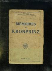 Memoires Du Kronprinz. - Couverture - Format classique