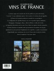 Les Vins De France - 4ème de couverture - Format classique