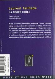 La Noire Idole - 4ème de couverture - Format classique