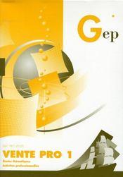 Vente pro 1 ; pochette de l'élève - Intérieur - Format classique