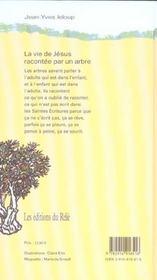 La vie de jesus racontee par un arbre - 4ème de couverture - Format classique