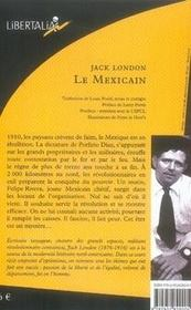 Le mexicain - 4ème de couverture - Format classique