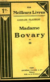 Madame Bovary - Tome 3 - Couverture - Format classique