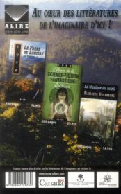 Revue Solaris N.188 ; Automne 2013 - 4ème de couverture - Format classique